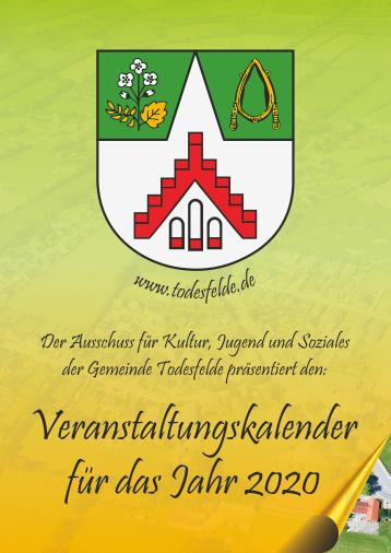 Aktueller Gemeindekalender von Todesfelde im PDF Format